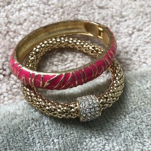Jewelry - Pink and gold bracelet set